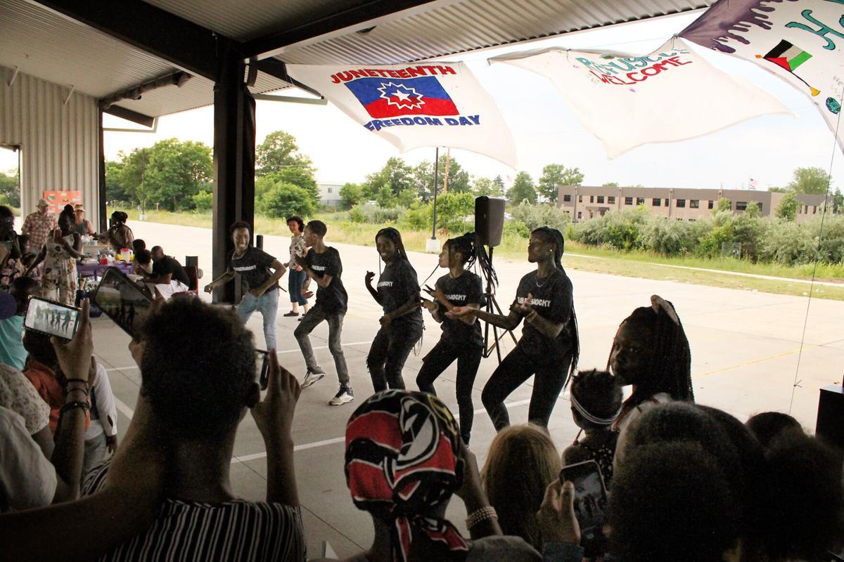 Members of the Jabberwocky dance team perform