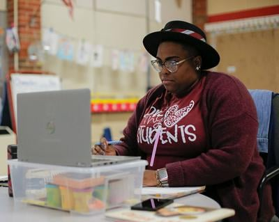 Dawnavyn James, a teacher at Parkade Elementary School, runs a virtual black history club out of her house