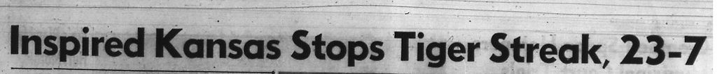 The Columbia Missourian's headline after the University of Kansas outscored Missouri