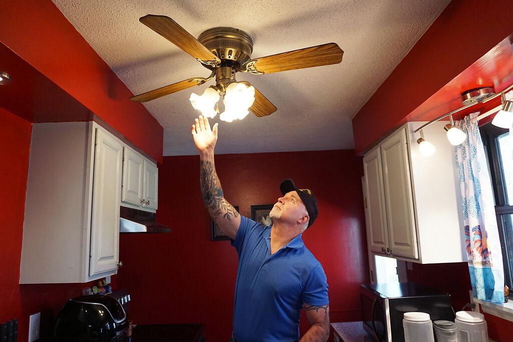 Joe Pangborn checks the light