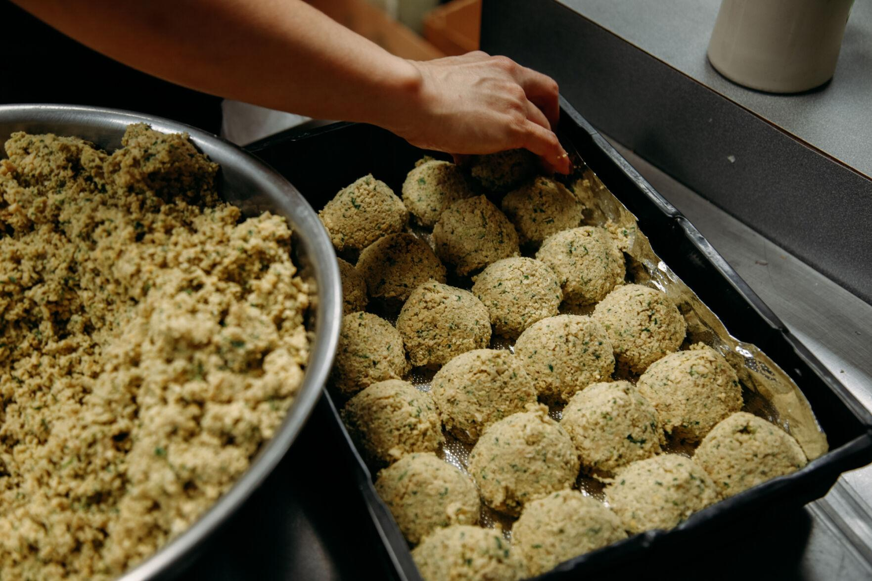 Fresh falafel is produced every alternate day in the International Café.