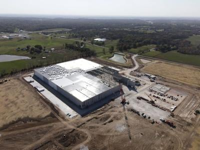 The new MidwayUSA headquarters is still in the process of being built at its new location at Route J and U.S. 40 on Wednesday near Rocheport, Mo.