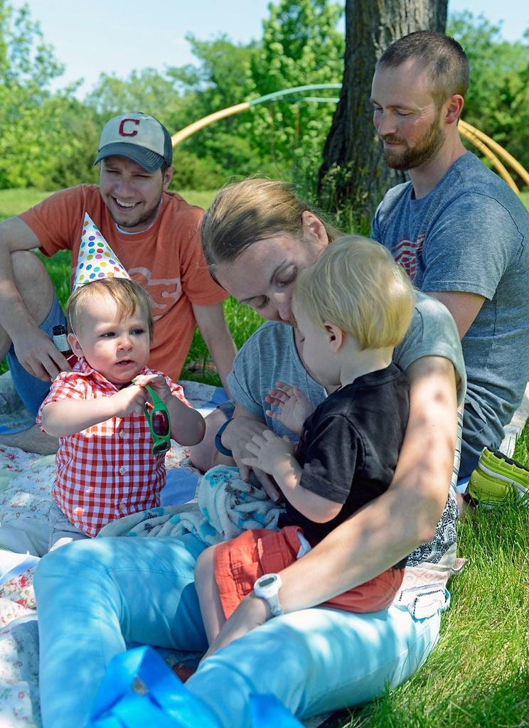 A family celebrates a birthday