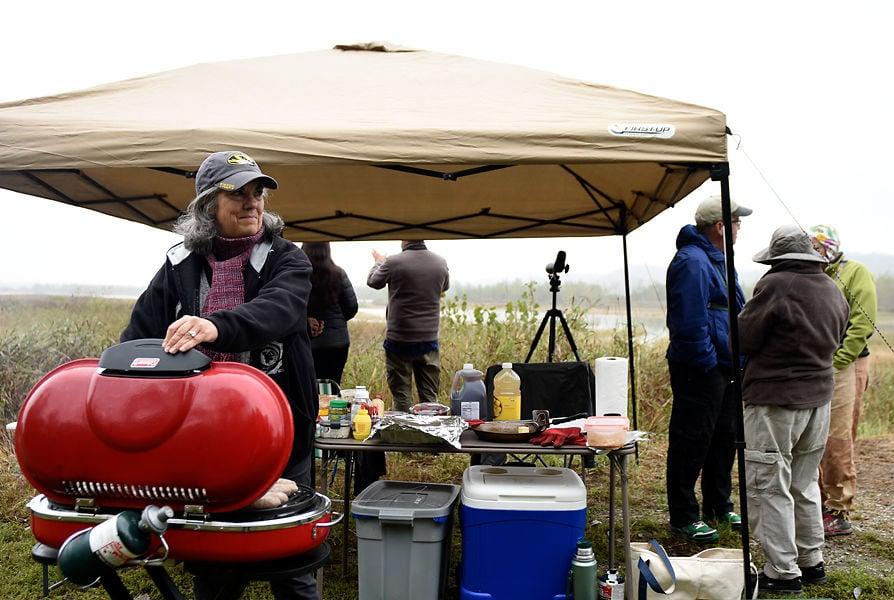 Lottie Bushmann cooks bratwurst