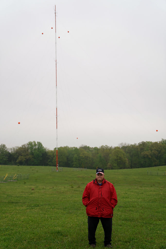 Brent Voorheis, a Harrisburg resident, signed up to have E.ON Climate & Renewables install a meteorological tower