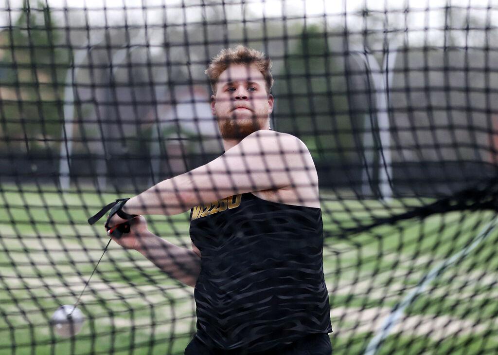 Missouri freshman Ethan Hanson prepares to throw