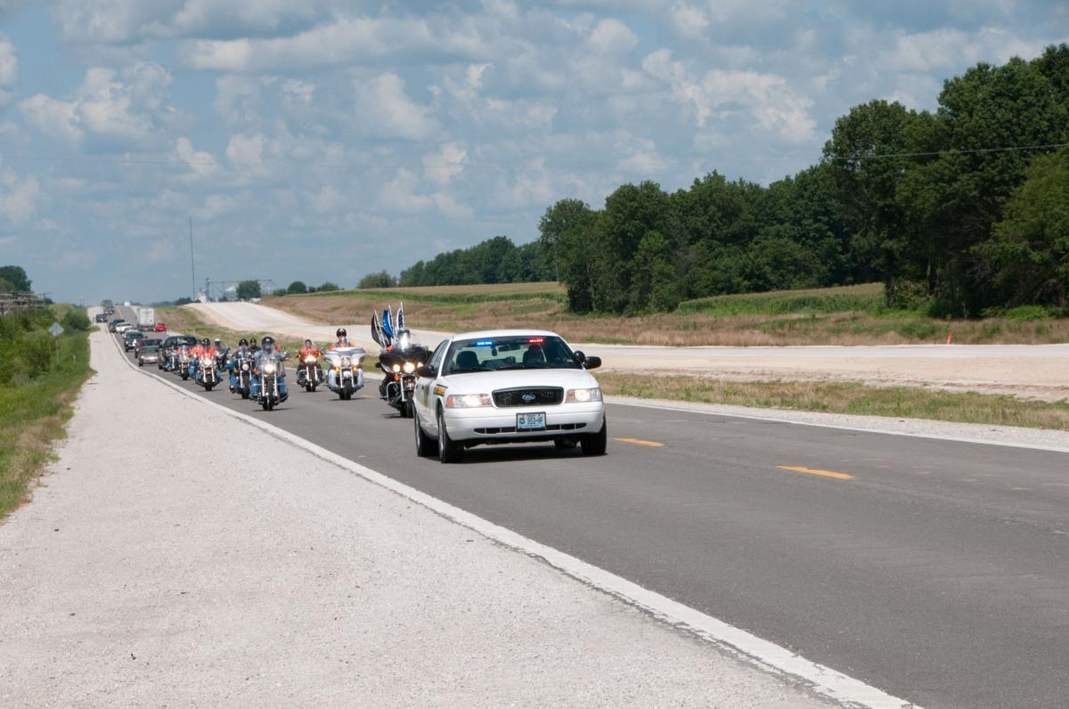 State trooper leads procession down U.S. 36