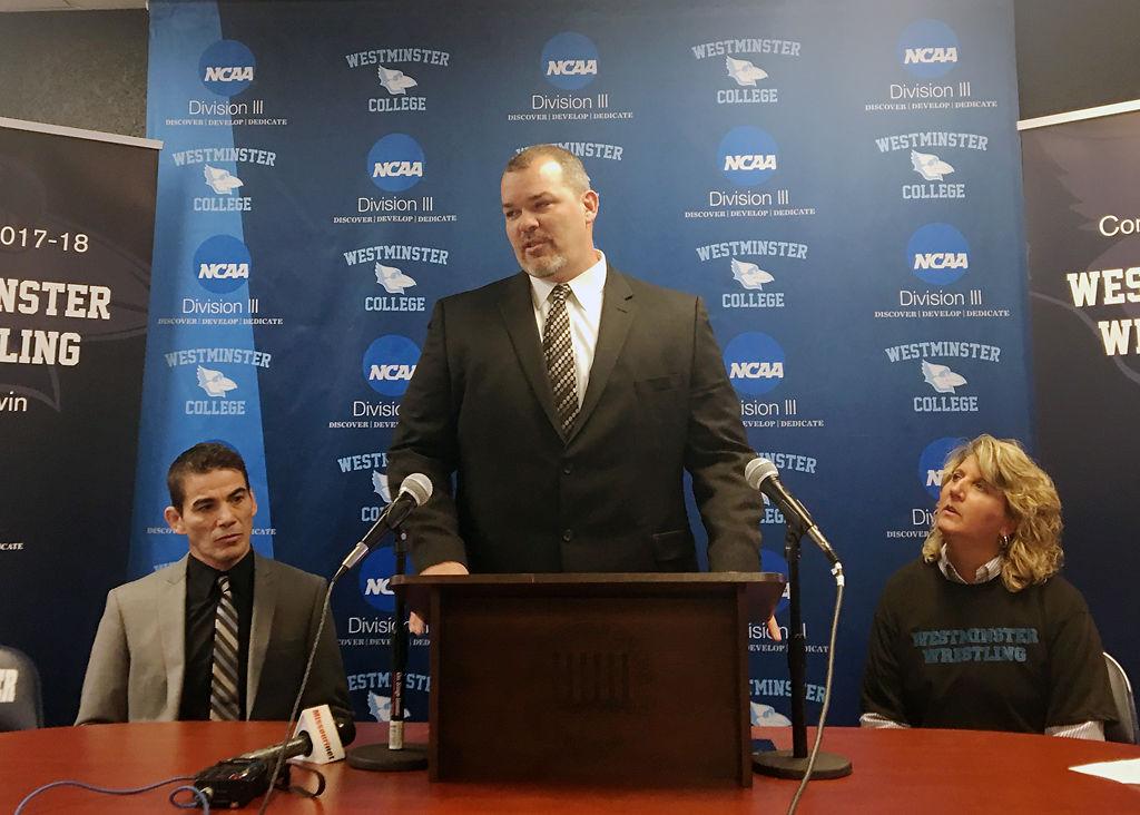 Mike Eierman, Tony Eierman and Tracey Braden announce a new Westminster wrestling program
