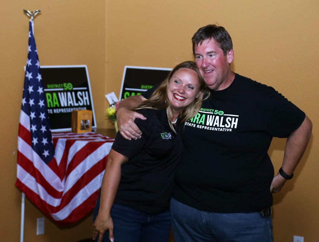 Sara Walsh embraces her husband (copy)