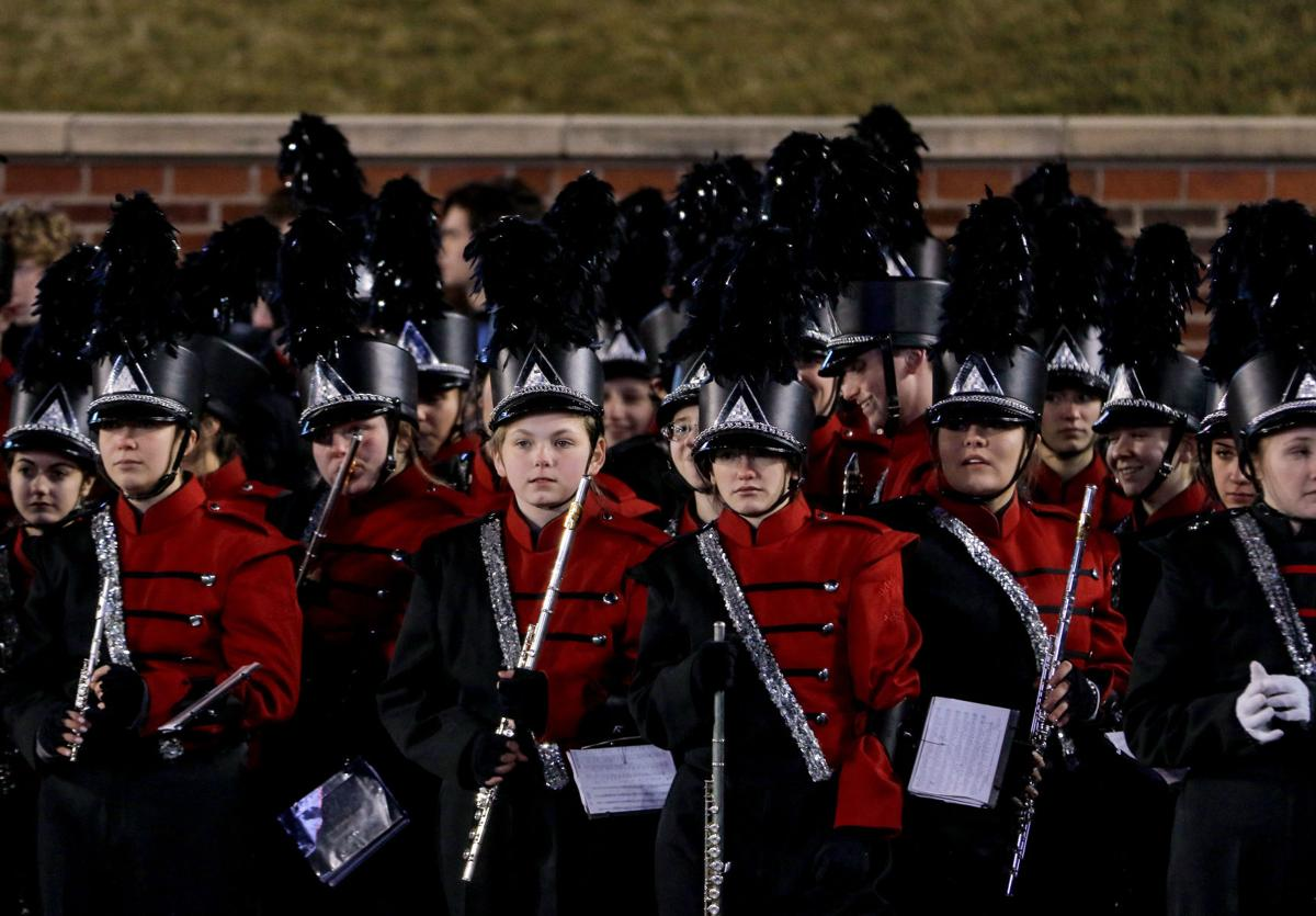 Jackson High School band watches the Carthage band perform