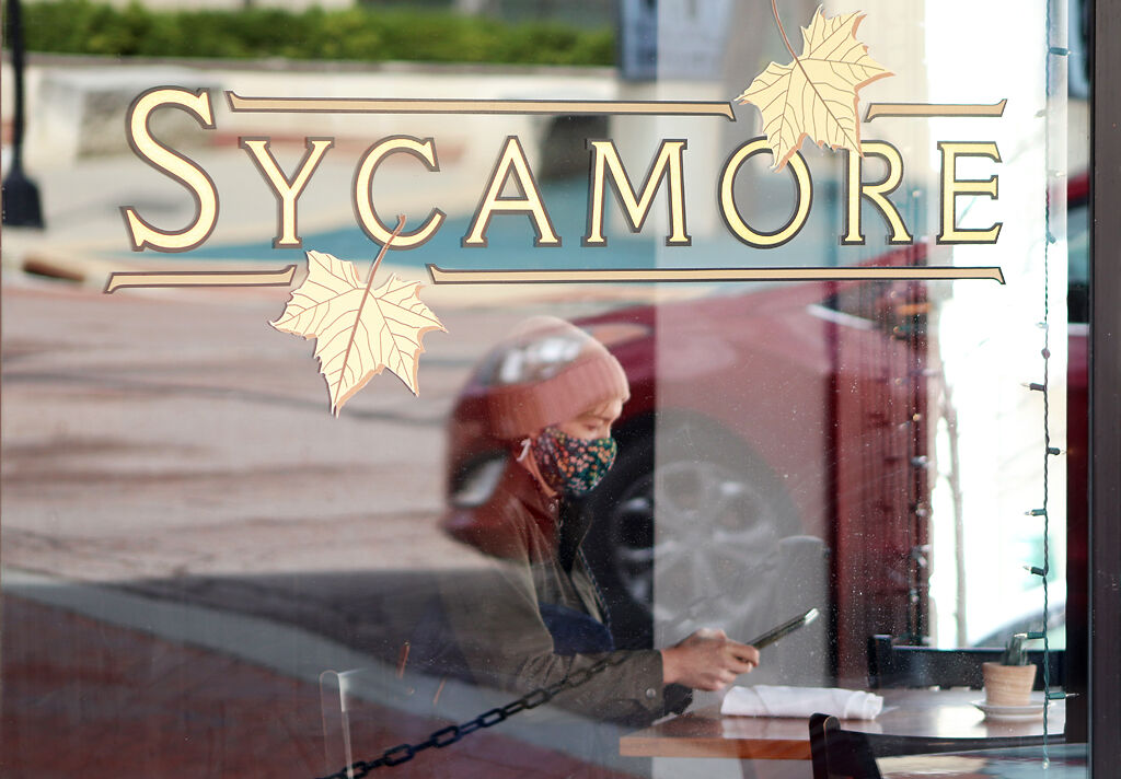A woman dines at Sycamore