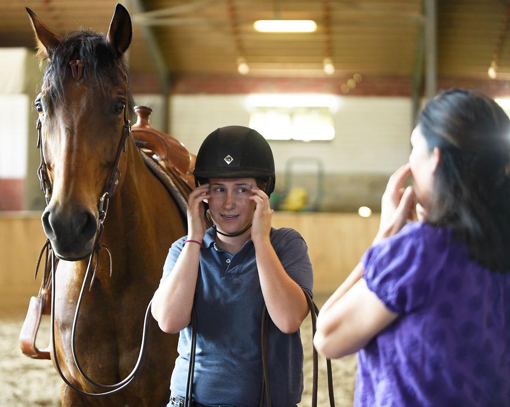 Animal communicator Joan Ranquet teaches Sarah Hine