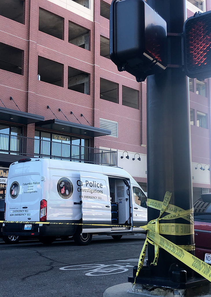 A crime scene investigation van was dispatched to the scene of a shooting