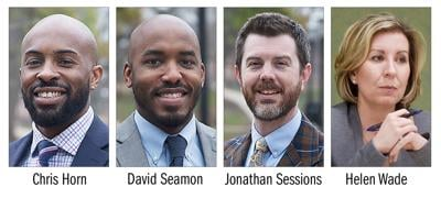 The four candidates for the Columbia School Board
