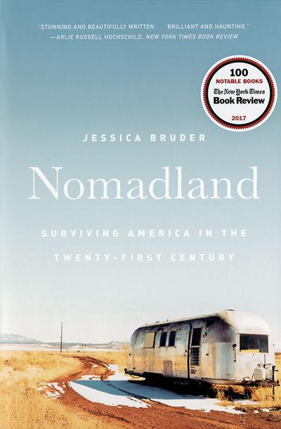 """The cover of Jessica Bruder's book, """"Nomadland"""""""