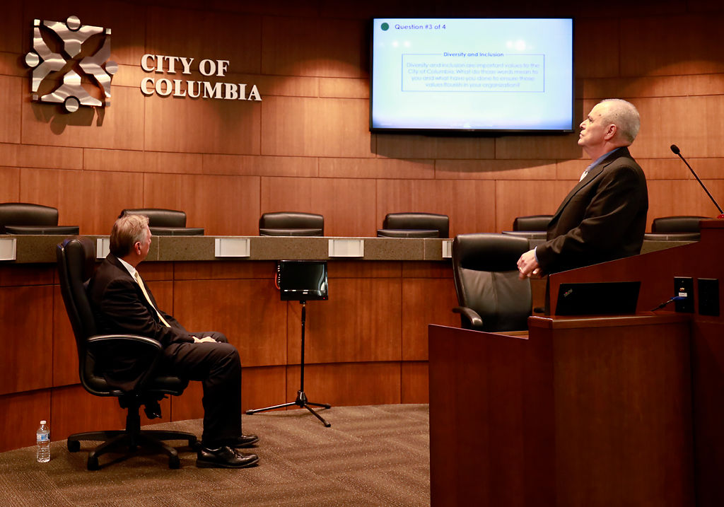 The city hosted a forum for the finalists for city manager