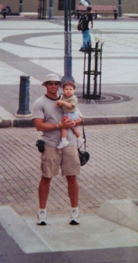 Trystan Colon-Castillo when he was 1 year old with his dad