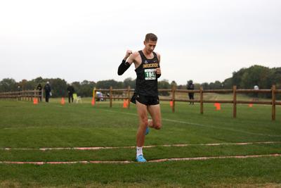 Missouri senior Kieran Wood crosses the finish line (copy)