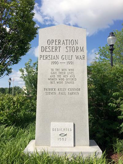 Ichthus at base of Desert Storm memorial causes controversy