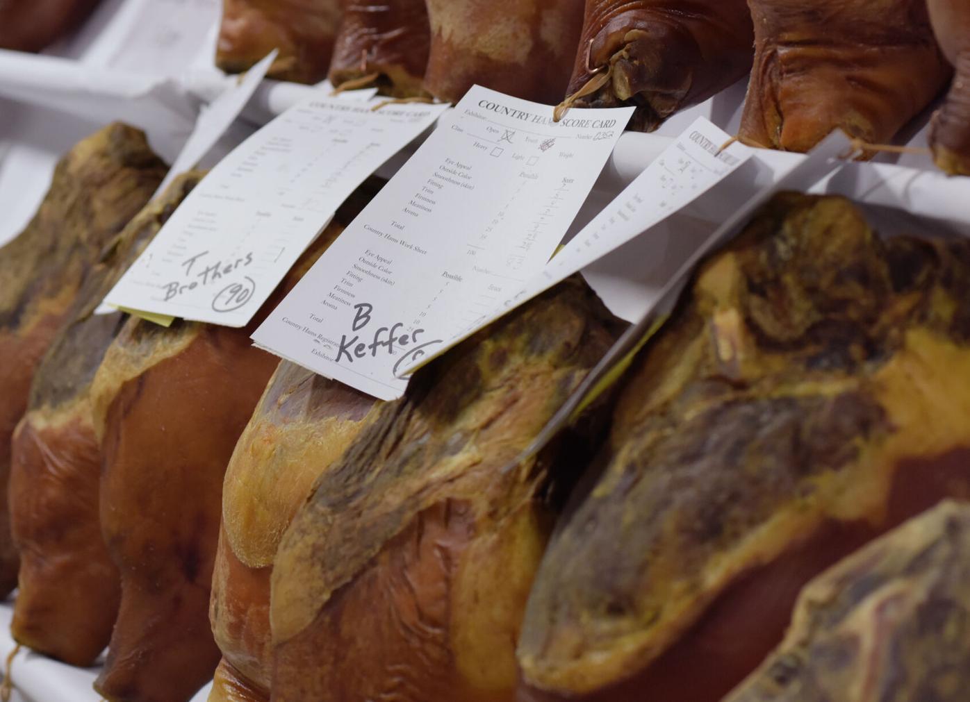 Hams fill the shelves