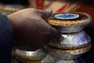 Sharif Hakim delivers homemade bean pies