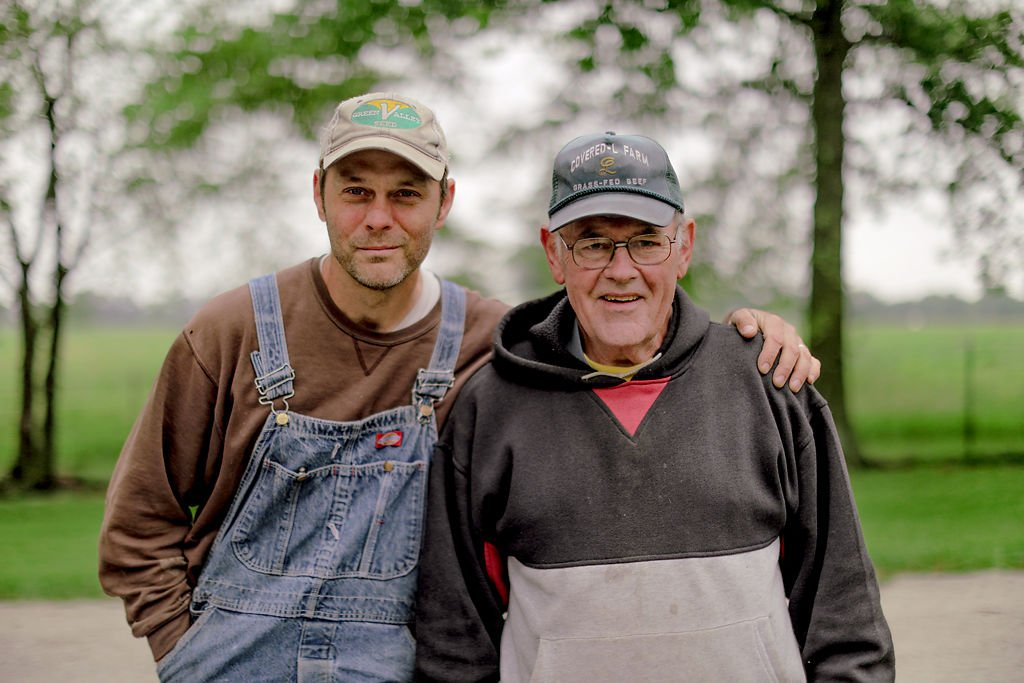 Noah Earle, left, and Steve Landers share a common passion: farming
