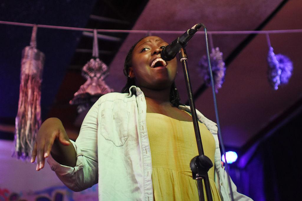 Sifa Bihomora sings her favorite jazz and R&B music