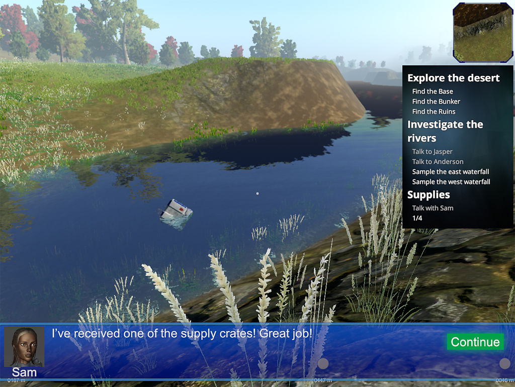 A screen grab of the game Mission HydroSci