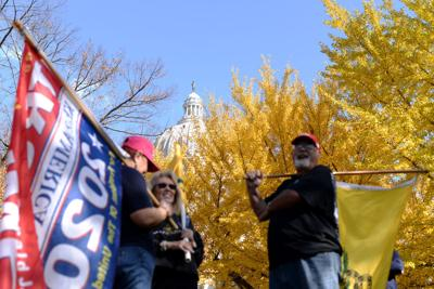 Trump supporters gather in Jefferson City to protest election results