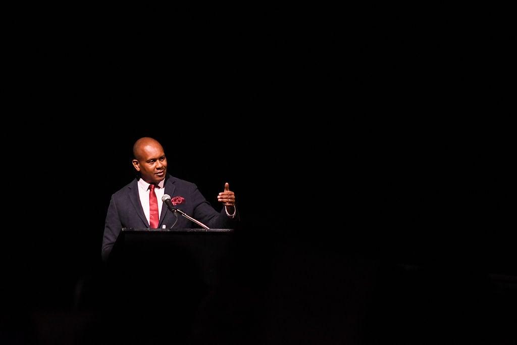 Kevin Powell delivers keynote speech