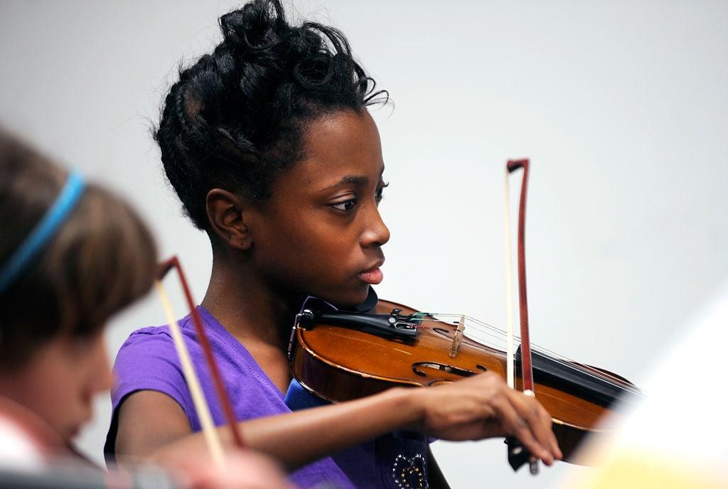 A'Taliya Bass plays the violin