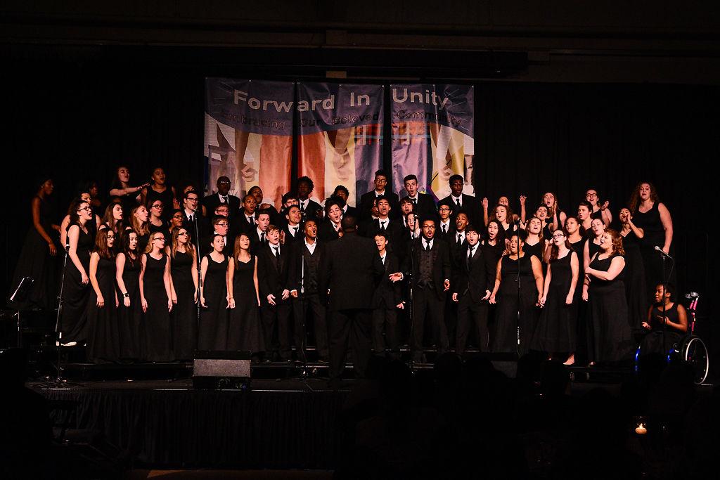 """Battle Vocal Arts choir sings """"Freedom Train"""""""