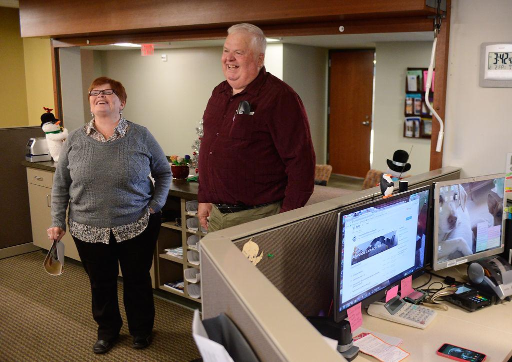 Bruce Martin visits the staff