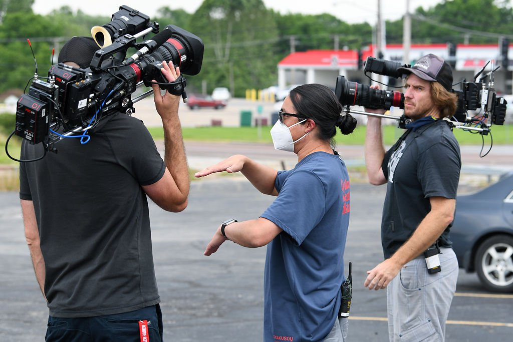 """The """"Restaurant Impossible"""" film crew gets ready for a shoot at McLanks Family Restaurant in Columbia"""