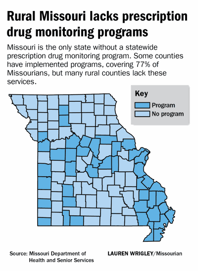 Rural Missouri lacks prescription drug monitoring programs