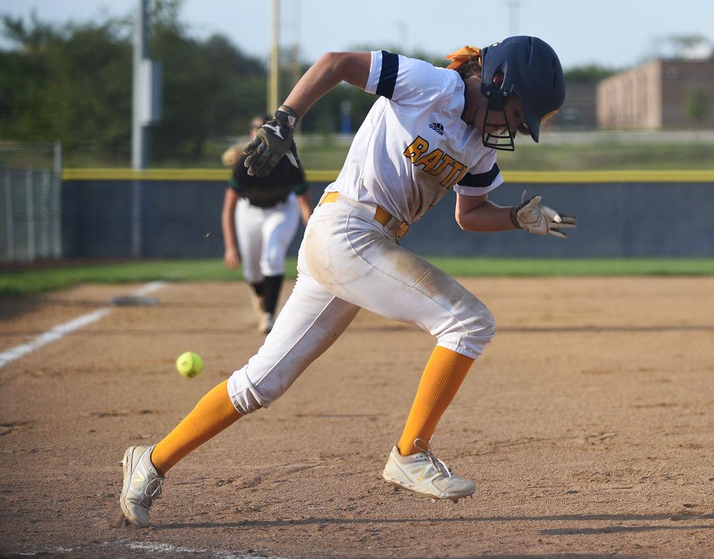 Eliyah McCarthy runs to first base
