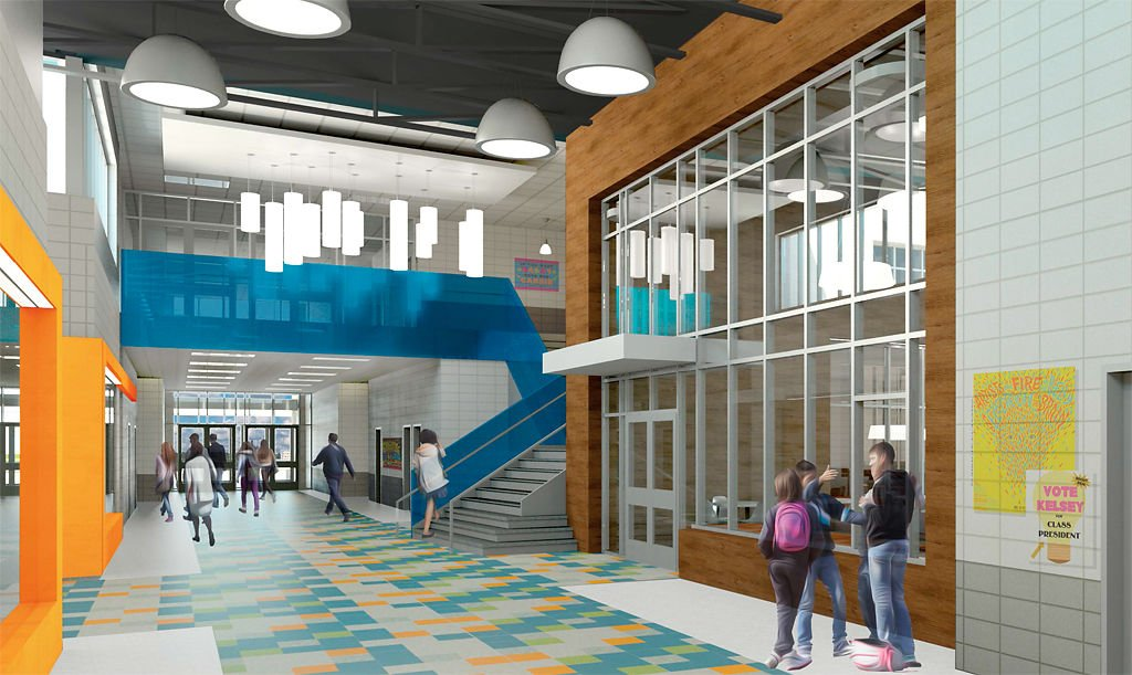 An Interior View Of A Proposed Middle School In Columbia