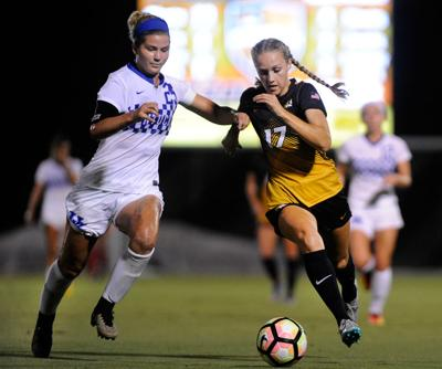 Sarah Luebbert runs for the ball against Kentucky (copy)