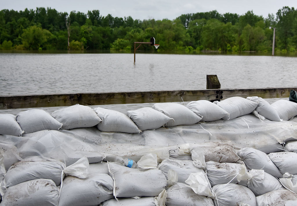 The water from the Missouri River has continued to rise