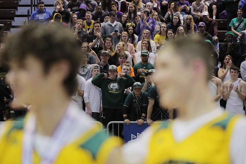 A sea of Rock Bridge fans looms over their team