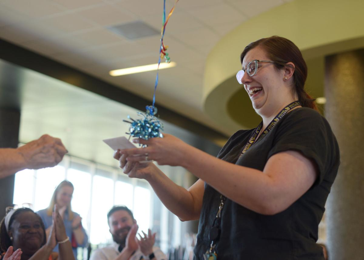 Mechelle Neuenburg is awarded the Teachers of Hope and Promise award
