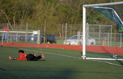 Asia Smith attempts to block a goal