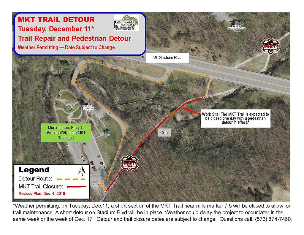 MKT detour map