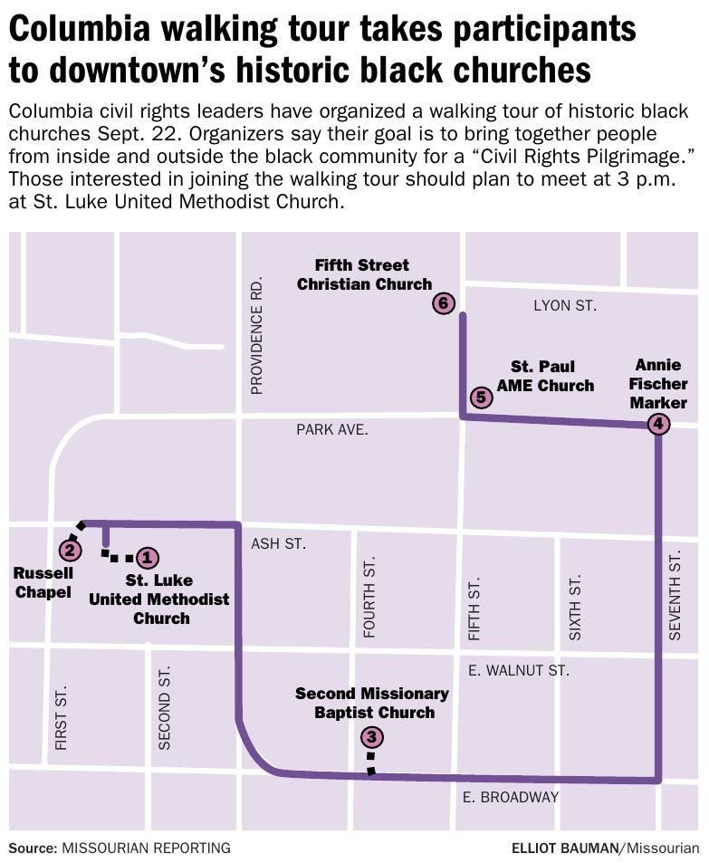 Columbia walking tour takes participants to downtown's historic black churches