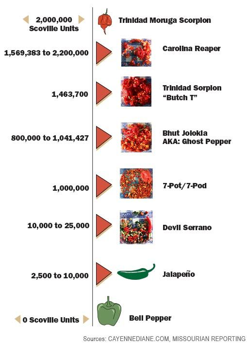 Hottest Pepper In The World Chart 2015