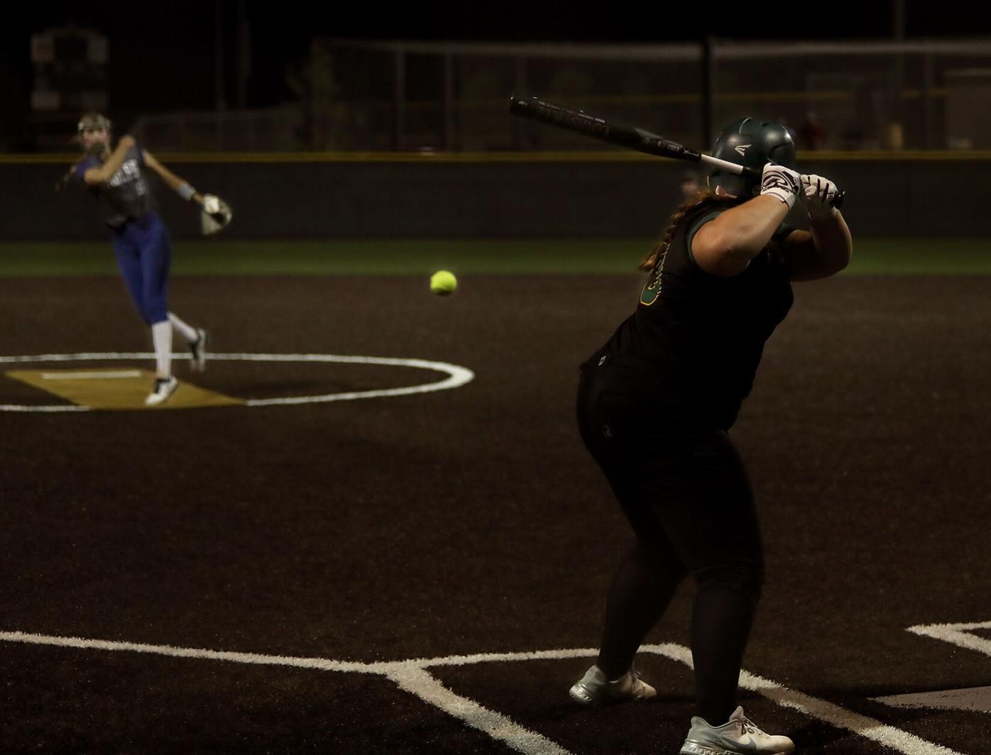 Rock Bridge freshman Addie Morris bats