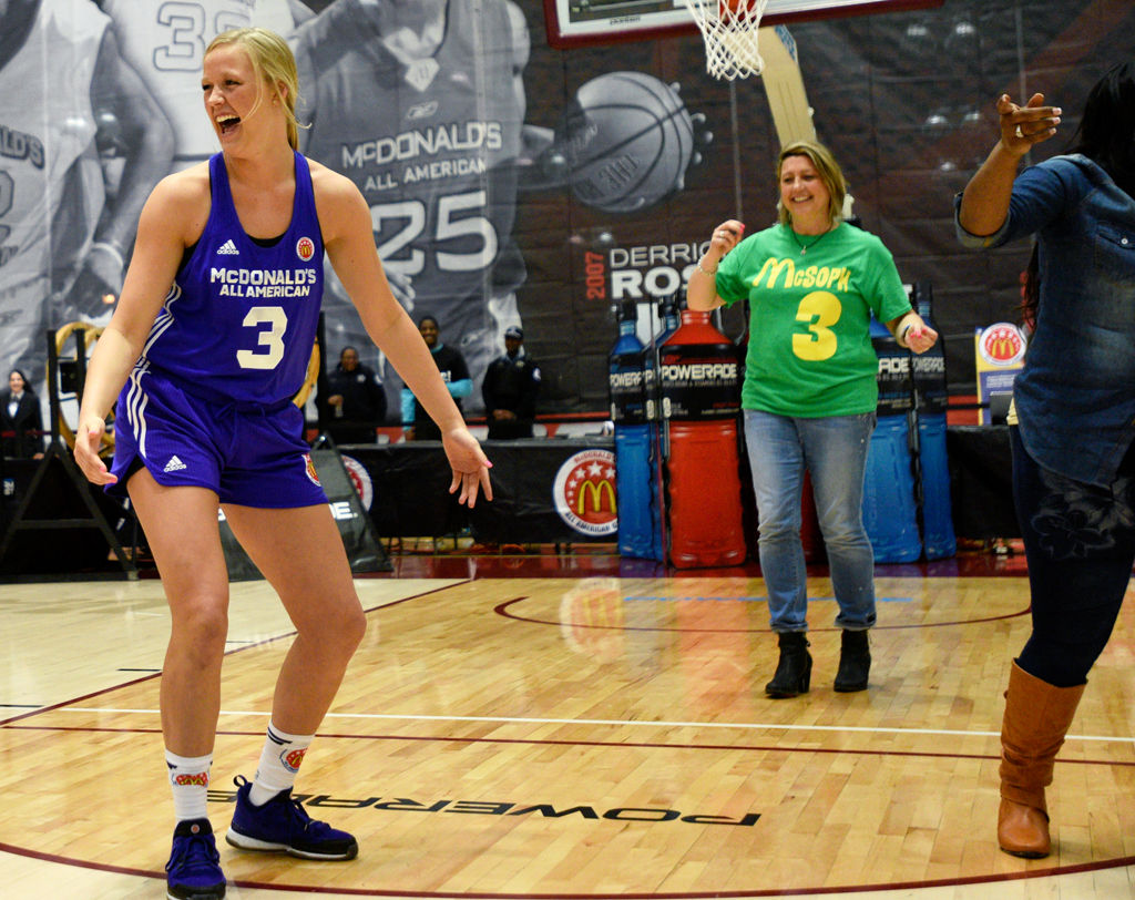 SOPHIE IN THE SPOTLIGHT: During McDonald's All-American festivities, Cunningham revels in support of family, fans