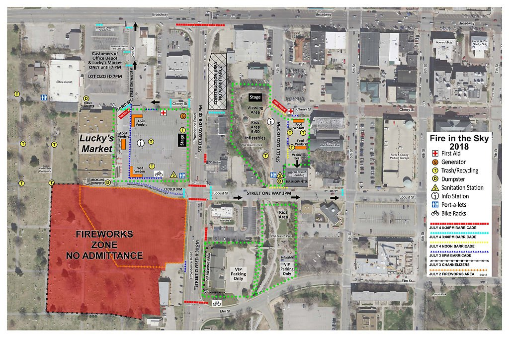Fourth of july celebrations move to luckys market street closures road closures for fourth of july 2018 solutioingenieria Gallery