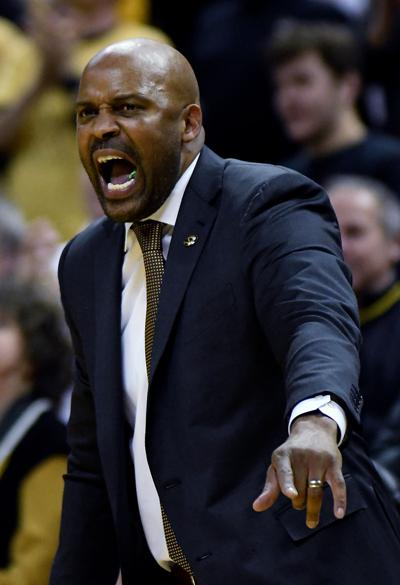 Cuonzo Martin yells from the sidelines during the game