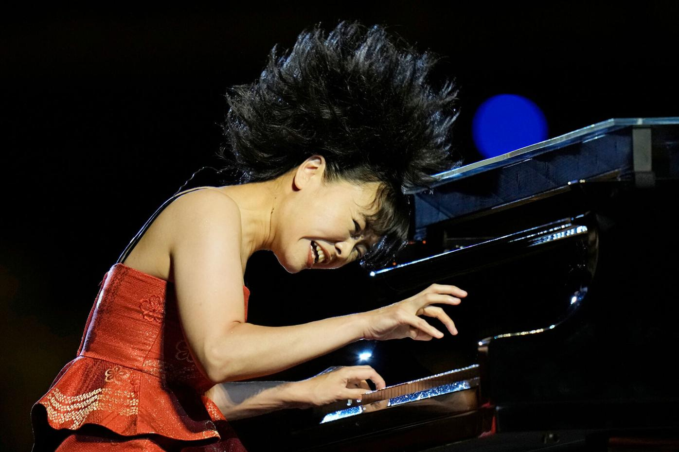 Hiromi performs during the opening ceremony